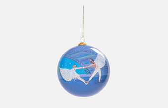 Moscow Ballet's Exclusive Dove of Peace Glass Christmas Tree Globe Ornament
