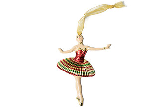 Moscow Ballet's Great Russian Nutcracker Kissy Doll hanging Christmas Tree ornament