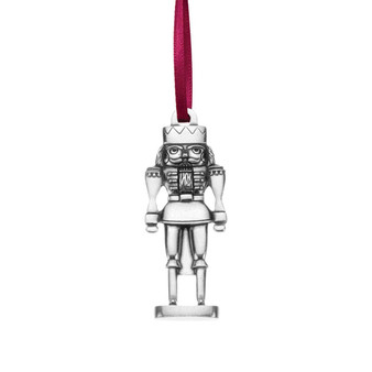 Nutcracker Pewter Hanging Christmas Tree Ornament from Danforth Pewter and Moscow Ballet