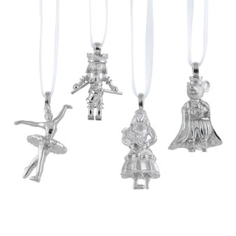 Great Russian Nutcracker Mini Pewter Christmas Tree Ornament Set from Danforth Pewter and Moscow Ballet