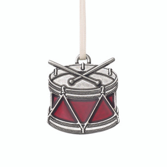 Nutcracker Soldier's Drum Pewter Ornament from Danforth Pewter and Moscow Ballet Hanging Christmas Tree Ornament