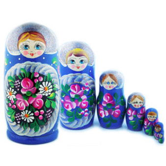 Daisy and Roses Large Matryoshka/Nesting Doll Set from Moscow Ballet