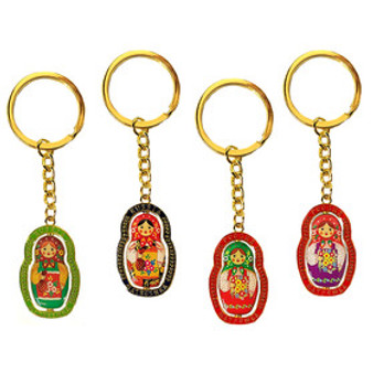Reversible Matryoshka/Nesting Doll Assorted Color Key Chains from Moscow Ballet