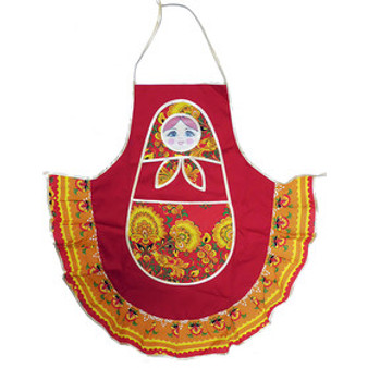 Matryoshka/Nesting Doll apron red