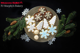 Magical Snow Forest Cookies delivered by PJ Murphy's Bakery with Moscow Ballet