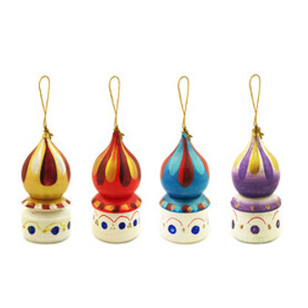 Moscow Ballet Russian Church Dome Assorted Color Christmas Tree Ornaments Set of 4