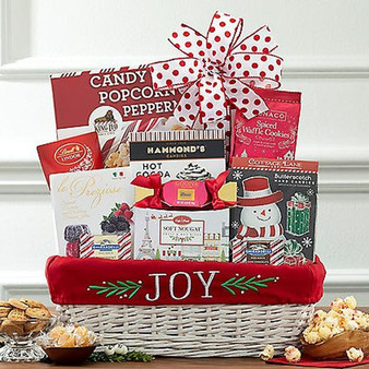 Joy To The World Christmas Candy Basket