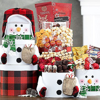 Snowman Chocolate Holiday Tower
