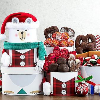 Polar Bear Christmas Party Holiday Tower