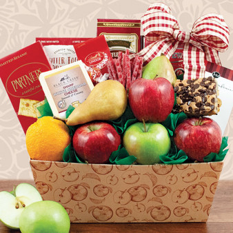 Fruitful Greetings Healthy Fruit & Snacks Basket
