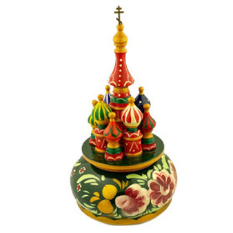 Saint Basil's Church Musical Figurine in a Slavic style from Moscow Ballet