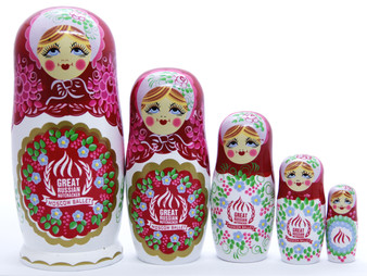 Moscow Ballet's Russian Nesting Doll Set Red Front