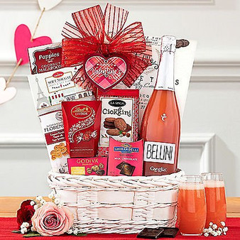 Bellini Valentine's Day Basket from Great Arrivals and Moscow Ballet