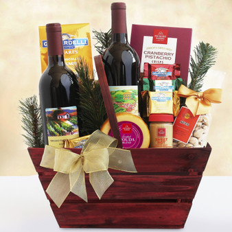 Cabernet Sauvignon & Pinot Noir Duet Holiday Basket from Great Arrivals and Moscow Ballet