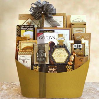 Send Tea, Cocoa, Snacks and More with this Elegant Basket from Great Arrivals and Moscow Ballet