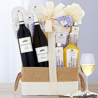 Live in luxury with this lavender spa basket from Great Arrivals and Moscow Ballet