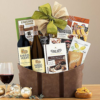Barrel Hoops Duet Wine Basket from Great Arrivals and Moscow Ballet