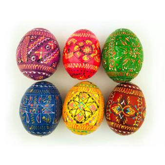 Ukrainian Multicolor Pyansky Easter Eggs Handmade from Moscow Ballet