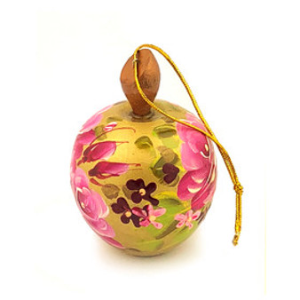 Pink and Golden Apple Surprise Ornament from Moscow Ballet