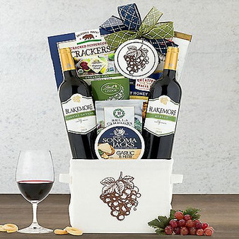 Blakemore Merlot and Cabernet: Red Duet Wine Basket from Moscow Ballet and Great Arrivals
