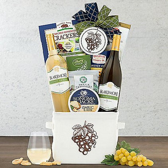 Blakemore Chardonnay and Pinot Grigio: White Duet Wine Basket from Moscow Ballet and Great Arrivals