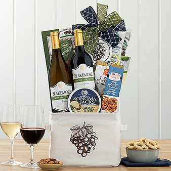 Blakemore Vineyards Chardonnay and Cabernet Duet Gourmet Wine Basket from Moscow Ballet and Great Arrivals