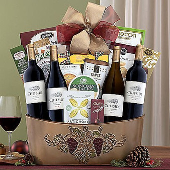 Moscow Ballet and Great Arrivals' Cliffside Vineyards 4 Wine Collection Gourmet Basket