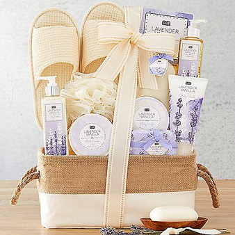 """Moscow Ballet and Great Arrivals' Lavender Vanilla """"Relax & Enjoy"""" Spa Basket"""