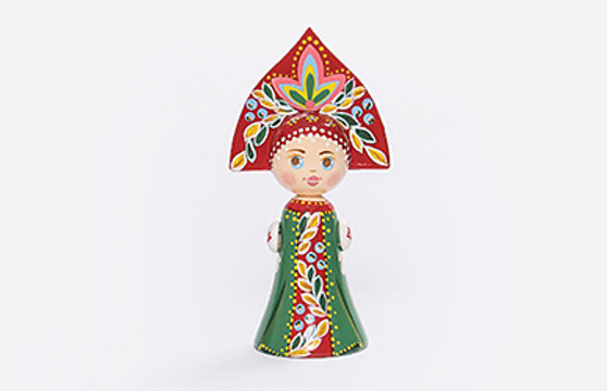 Moscow Ballet Russian Folk Doll Front