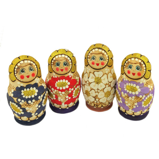 Woodburn Nesting Doll set in assorted colors