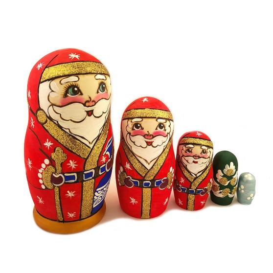 Santa Claus Russian Nesting Doll celebrates Nutcracker Season