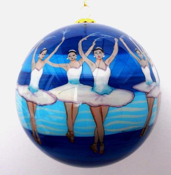 Globe Tree Ornament - Snowflakes