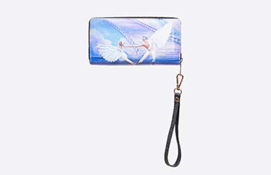 Moscow Ballet's Dove of Peace Clutch Wallet with Wrist Strap