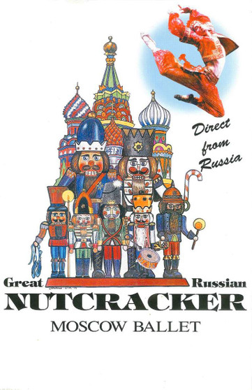 Moscow Ballet's Vintage Nutcracker Russian Poster