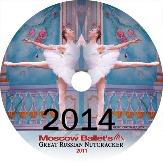 Moscow Ballet's Great Russian Nutcracker Dance with Us performance DVDs from 2014