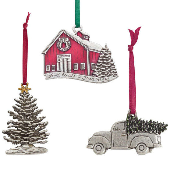 Christmas Traditions Collections Pewter Ornament Set from Danforth Pewter and Moscow Ballet