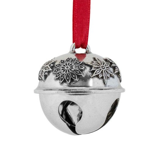 Snowflake Sleigh Bell Hanging Christmas Tree Pewter Ornament from Danforth Pewter and Moscow Ballet