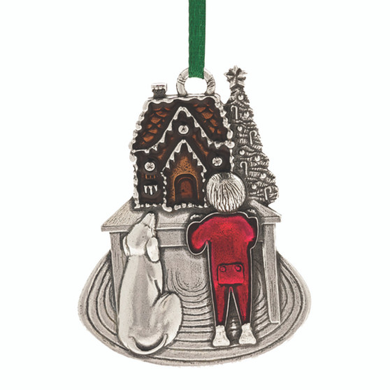 Sweet Holiday Anticipation Pewter Christmas Tree Ornament from Danforth Pewter and Moscow Ballet