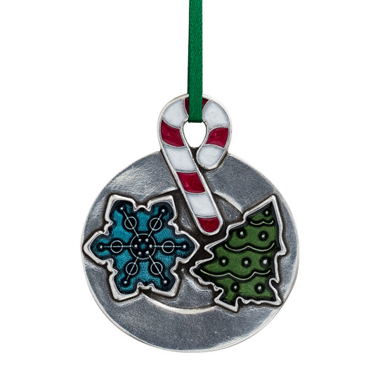 Christmas Cookie Pewter Hanging Ornament from Danforth Pewter and Moscow Ballet