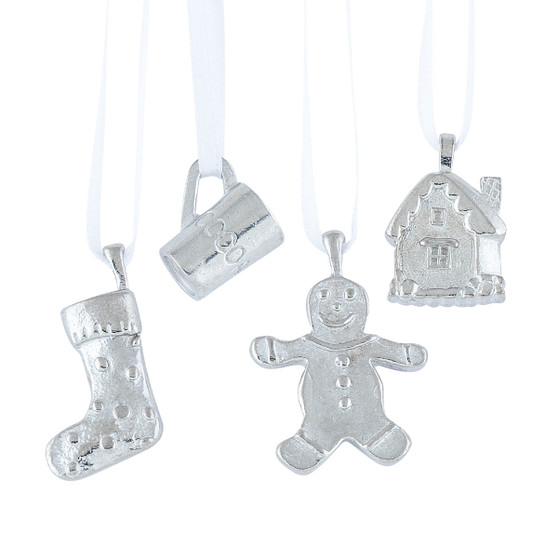 Danforth Pewter and Moscow Ballet Hanging Mini Pewter Christmas Party Ornament Set
