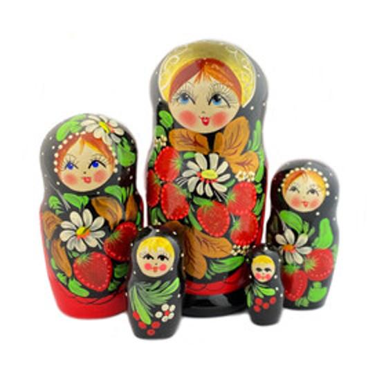 Strawberry matryoshka nesting doll set from Moscow Ballet