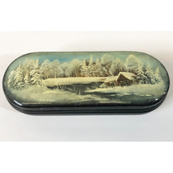 Russian Winter Wonderland Glasses Case from Moscow Ballet