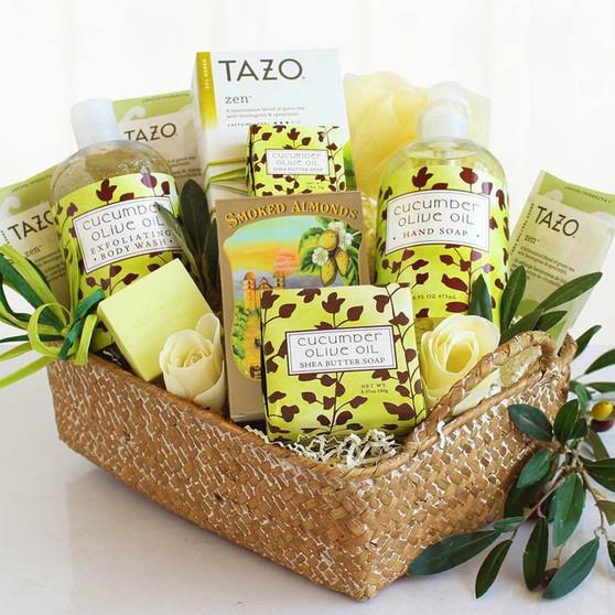 Natural Cucumber & Olive Oil Spa Gift Basket