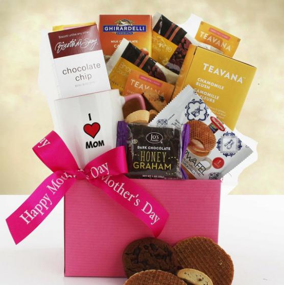Mother's Day Mug, Tea and Goodies Gift Basket
