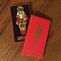 Moscow Ballet's Great Russian Nutcracker Enamel and Gem Hanging Nutcracker Soldier Christmas Ornament Red in Box