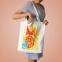 Modern Matryoshka Cotton Tote Bag