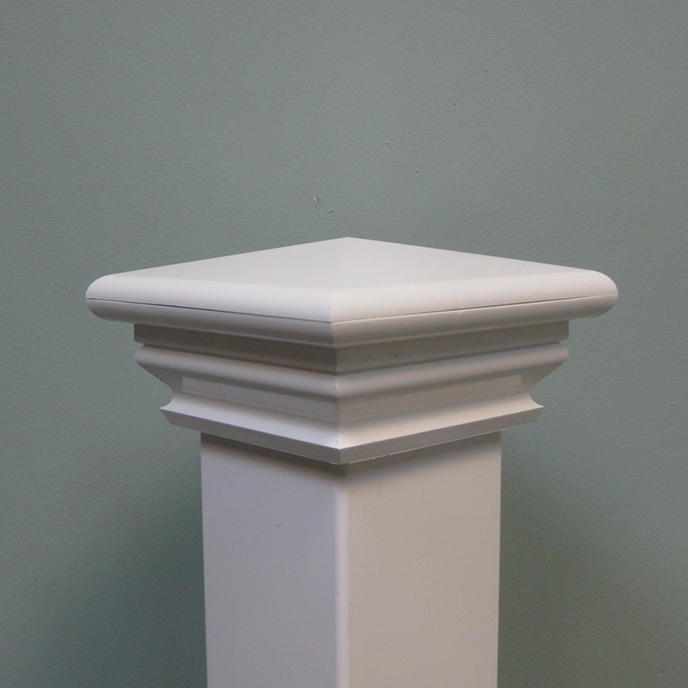 "Savannah 4"" x 4"" Vinyl Post Cap - White"