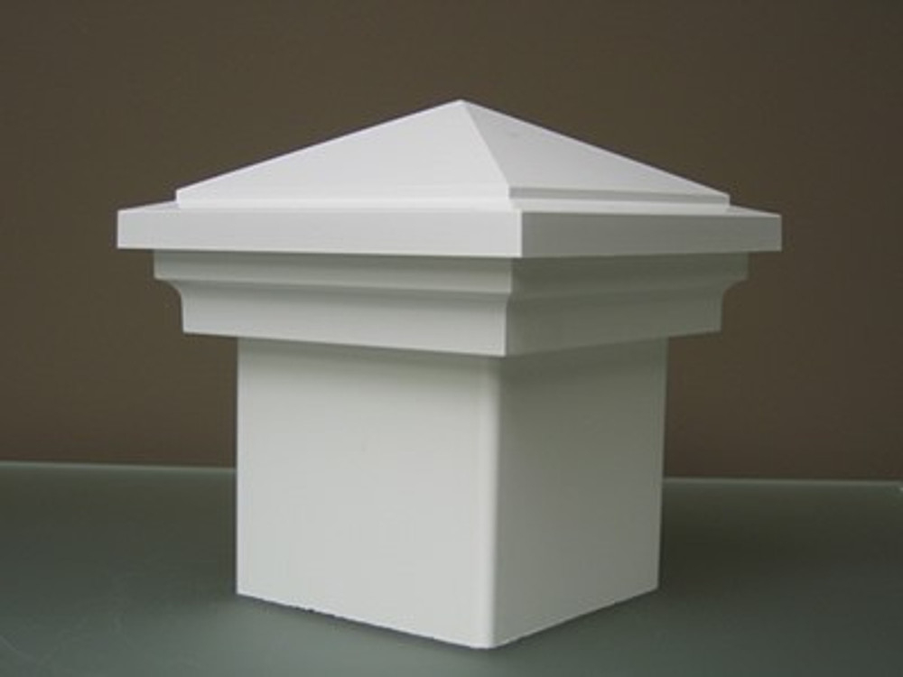 "Nantucket 4"" x 4"" Vinyl Post Cap - White"