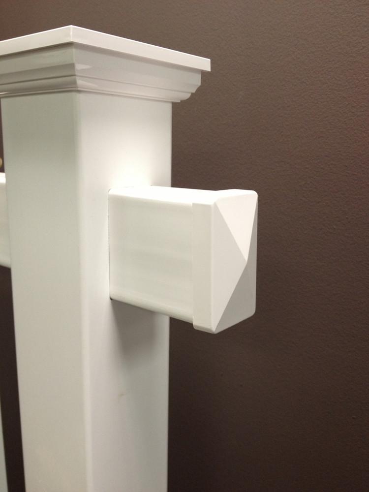 Real Estate Arm End Cap - Exterior Fit (White)