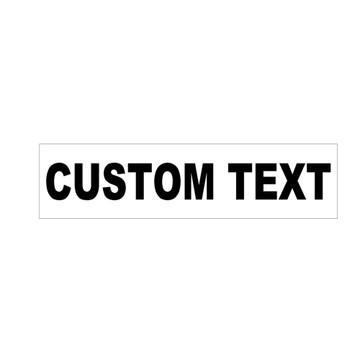Custom Rider with Black Text